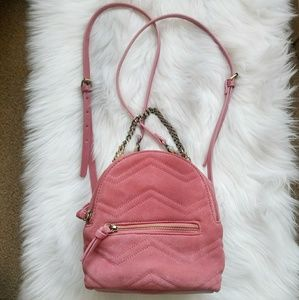 ZARA Woman 100% Cow Leather Small Backpack.